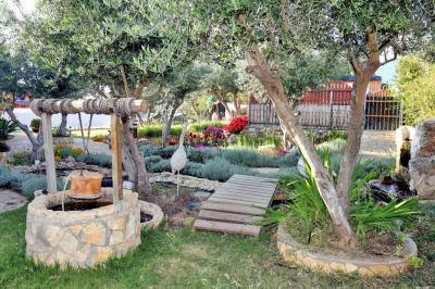החצר של אחוזת השחר היא חצר ססגונית ומטופחת טובלת בהרבה ירוק ונותנת אוירה רגועה ופסטורלית